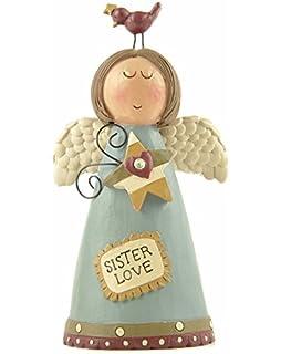 sister love angel ornament - Little Mermaid Christmas Ornaments
