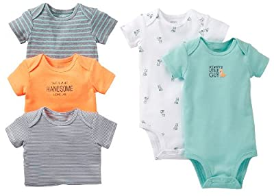 Carter's Baby Boys' 5 Pack Bodysuits (Baby) - Asst-Boys - Assorted-ST - 3 Months