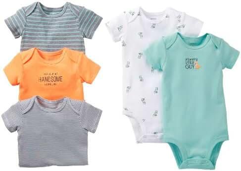 Carter's Baby Boys' 5 Pack Bodysuits (Baby) - Asst-Boys 2 - Assorted-ST - 12 Months