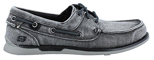 Skechers Usa Mens Eris Slip-on Båt Sko Svart