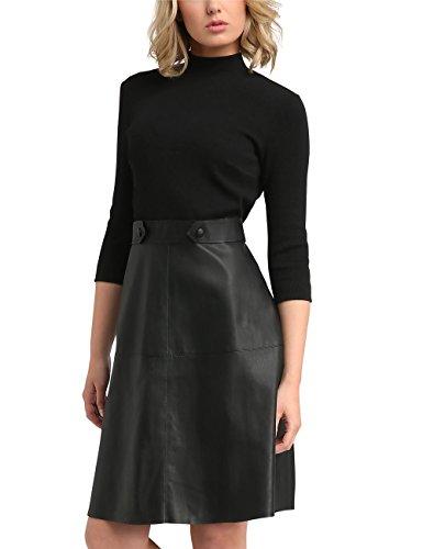 icyblue Emerald Schwarz black Schwarz petrol Kleid Fashion APART leo Damen Uq06I