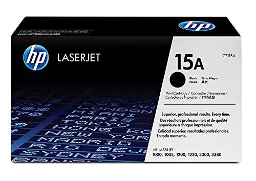 HP C7115A 15A LaserJet 1000 1005 1200 1220 3300 3310 3320 3330 3380 Toner Cartridge (Black) in Retail Packaging