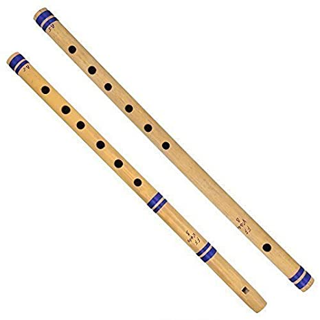 Indian Bamboo Flute Bansuri Set Of 2 Fipple Transverse For Amateurs