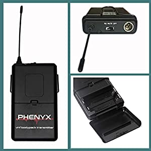 Phenyx Pro 4-Channel VHF Wireless Microphone System, Metal Receiver, Handheld Mic/Lapel/Headset Combo, Long Distance Operation, Ideal for Church, Party, Public Address (PTV-2000)