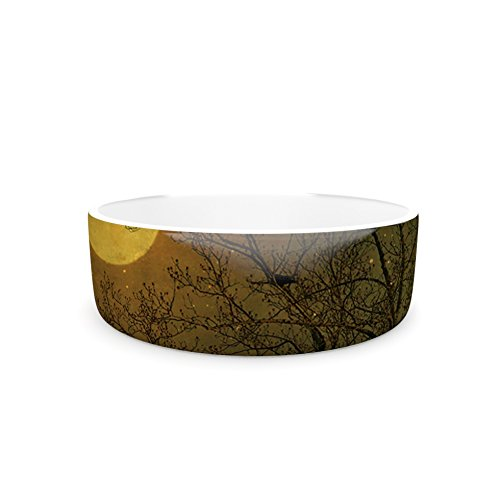 4.75\ Kess InHouse Robin Dickinson Starry Night  Pet Bowl, 4.75
