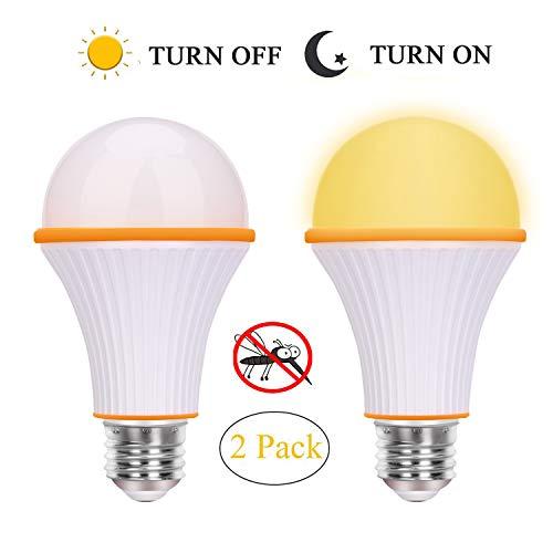 Amber Yellow Bug Light Bulb, LED Switch Night Light Bulbs, A19 720 Lumens 3 Step E26/E27 Base Dimming Equivalent LED Light Bulbs Warm Night Light, Yellow Color Bulbs for Bedroom,Garden,Hallway, Patio