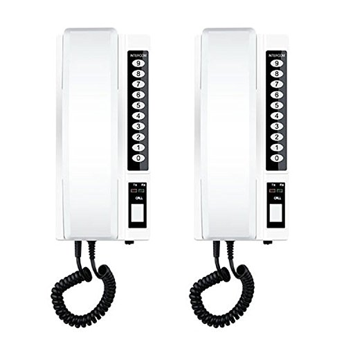 2PCs Wireless Intercom Security System Long Range Talk for Home Office Warehouse Call 2 Stations Extendable Clear Sound Two Way Communication