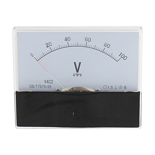 UXcell 44C2 DC 0-100V Class 1.5 Panel Gauge Measuring Ana...