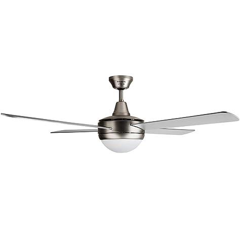 KLARSTEIN Bolero – 2 en 1, Ventilador de Techo, 134 cm, lámpara de 55 W, aspas de Madera, Mando a Distancia, Blanco: Amazon.es: Hogar