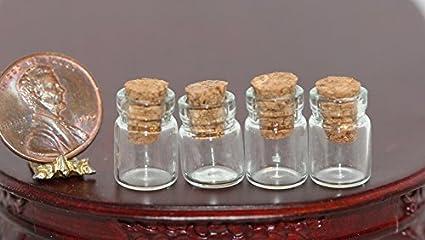 Dollhouse Miniature 1:12 Corked Amber Glass Jar