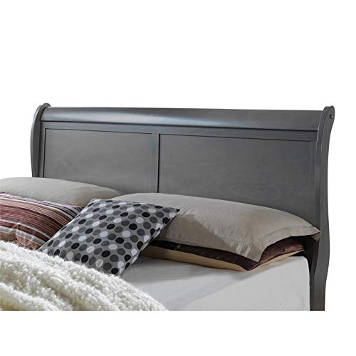 Furniture of America Brodus Grey Full Wooden Sleigh Bed