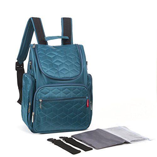 Baby Lovess Travel Diaper Backpack With Stroller Straps and Diaper Changing Pad For Mommy And Dad (Blue-green/Teal) (Insulated Sippy Cup Owl compare prices)