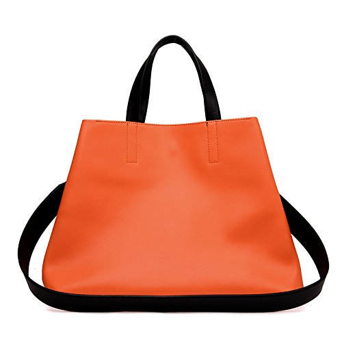 GUANGMING77 _ Borsa Grande Borsa Tracolla Messenger,Claret Orange