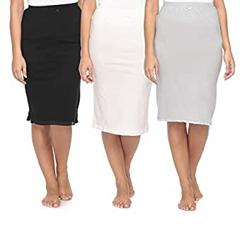 Mark-On Multi Color Cotton Straight Skirt For Women