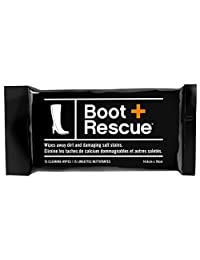 BootRescue All-Natural Cleaning Wipes for Leather and Suede Shoes & Boots. Shoe Cleaning Wipe Removes Dirt, Salt Stains and Mud
