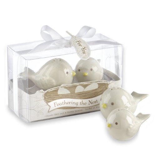 (Kate Aspen Feathering The Nest Ceramic Birds Salt and Pepper Shakers)