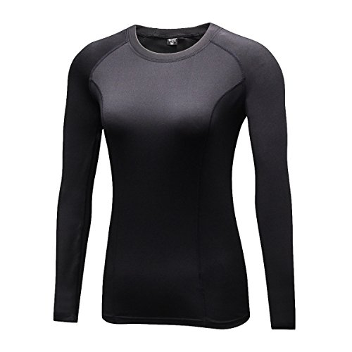 Onlyway Women Thermal Long Sleeve Shirt Fleece Lined Stay Warm Base Layer Top Active Sports Performace
