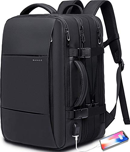 35L Travel Backpack,Flight Approved Carry On Backpack for International Travel Bag, Water Resistant Durable 17-inch…