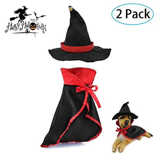 Strangefly Cat&Dog Halloween Costume,Vampire Cloak+Hat Apparel Suit,Holiday Cosplay,Party Dress Up,Cute,Funny and Cool…