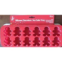 Nouveau 12 moules en silicone en forme de bonhomme en Pain d'épice de Noël homme Moule à glaçons/chocolat ou mini muffins Moule à gâteaux et à cupcakes