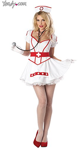 California Costumes Nurse Heart Breaker Set, White, X-Large