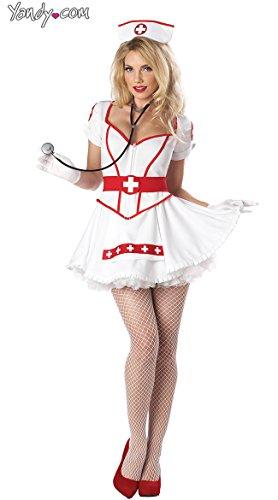 Hospital Halloween Costumes Ideas - California Costumes Nurse Heart Breaker Set,