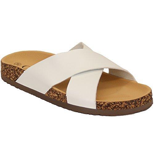 MCM Ladies' cm Sandals 2004 White UK 7