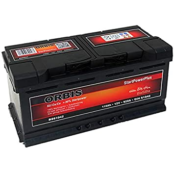 Orbis 12v 110ah 61042 Startpower Kfz Batterie Amazon De Elektronik
