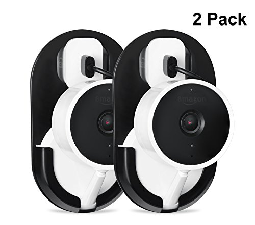 Cloud Cam AC Outlet Mount with 360 Degree Swivel for Cloud Cam - by Wasserstein (2 Pack, Black)