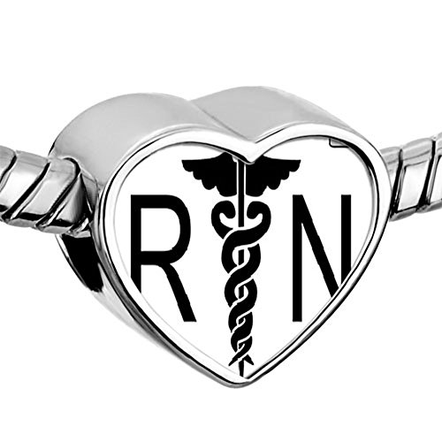 CharmSStory Nursing Registered Caduceus Charms product image