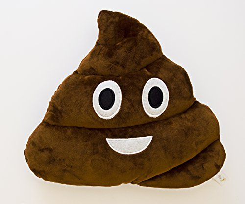 [Happy Poop Emoji Plush Pillow 14 in wide x 12 in tall (35.56 cm w x 30.48 cm t) snuggle toy for the kid in all of] (Minnie Mouse Nose)