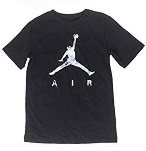 Nike Air Jordan Boys 8-20 Jumpman Cotton T-Shirt (Black, Small)