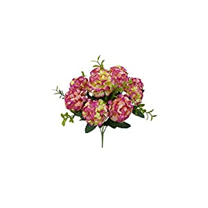 V-K-YA 10 Heads Artificial Hydrangea Bride Bouquet Wedding Home Decoration Simulated Flower Party Supplies,F 35