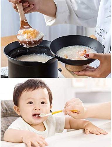 zzx Poêle à Frire Batterie De Cuisine 4 Pièces Casserole Antiadhésive Créative en Alliage D'aluminium Pot à Soupe Wok Pot à Lait avec Couvercle