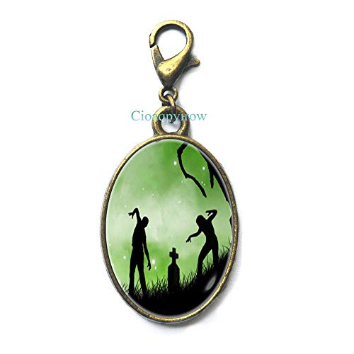 Zombie Zipper Pull Zombie Lobster Clasp Horror Zipper Pull Dead People Zipper Pull Zombie Art Post Zombie Jewelry,HO0E153