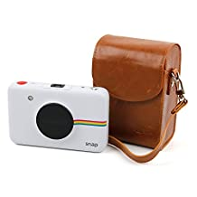 Durable & Ultra-Portable, Retro-Inspired Compact Camera Case in 'Vintage' Brown for the Polaroid Snap and Polaroid Snap Touch - by DURAGADGET