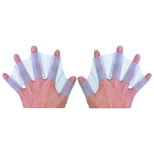 Aeromdale Coque en silicone l'eau de bain de natation Gants d'entraînement en toile à la main Taille M pour femme 17x 5,6x 0,3cm Bleu