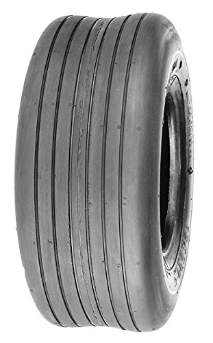 Deli Tire S-317, Straight Rib Tread, 4 PR, Tubeless, Lawn and Garden Tire (13×5.00-6)