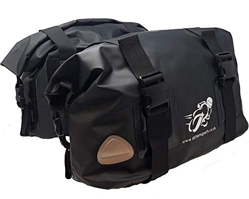 Motorcycle Bag Panniers Saddle Bag 40L Roll Top Adventure, Sports, or Street bikes - Soft Luggage
