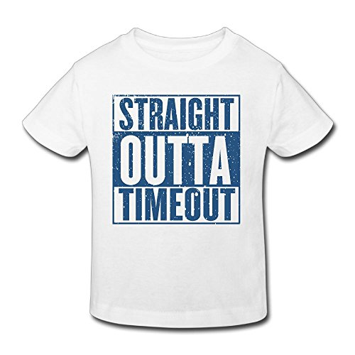 Waldeal Boys&Girls Straight Outta Timeout Toddler T Shirt Funny Out of Timeout Tee (Big T-shirt Time Youth)