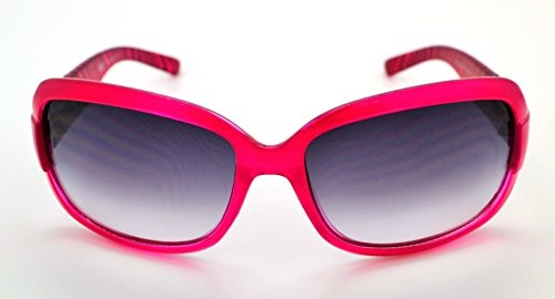 Vox tendance classique haute qualité pour femme Mode Hot Lunettes de soleil W/étui microfibre gratuit Pink Zebra Frame - Smoke Lens