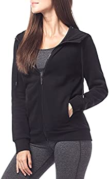 Lapasa Womens Fleece Hoodie Sweatshirt (Black or Heather Grey)