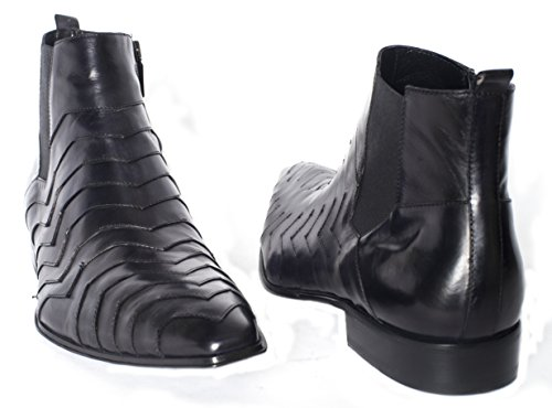 Jo Ghost3319 M leather ankle boots with zipper on a side O5mss