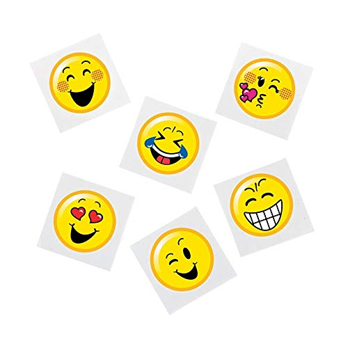 Emoticon Emoji Smiley Face Tattoo Assortment - 72 pc]()