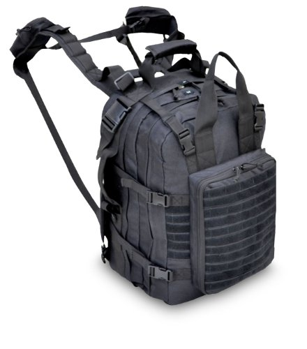 Combat Medic Bag - Explorer M2 Everyday Deluxe Carry Huge Military Corpsman Medic Hospital Tactical Backpack, Black, 20 x 13 x 6-Inch