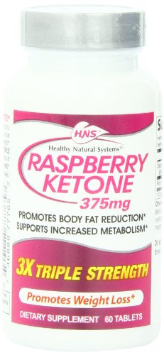 Healthy Natural Systems Diet Supplement Bottle, Raspberry Ketone Triple Strength, 60 Count