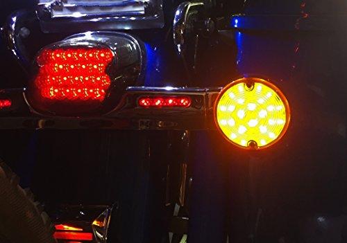 OZ-USA Rear Amber LED Bulb 1156 Harley Touring Turn Signal Road King Glide Electra Ultra Fl