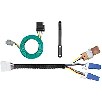 curt 56225 vehicle-side custom 4-pin trailer wiring harness for select nissan  frontier