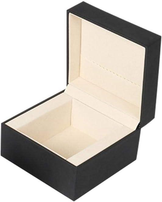urbenlife Caja De Relojes Hombre Mujer Negra, Caja De Reloj Pulsera Caja De Almacenamiento Collar Caja De Regalo De Joyería Para Novia beautifully