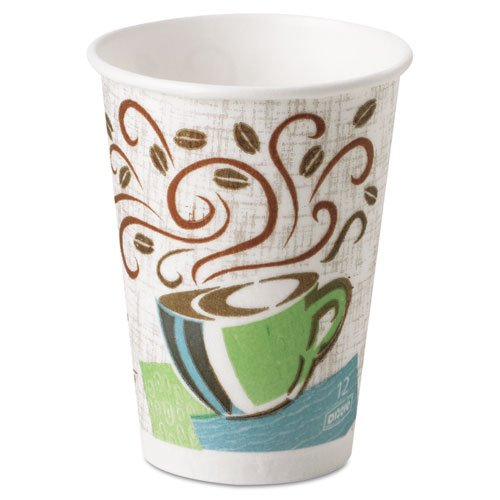 Hot Cups, Paper, 12oz, Coffee Dreams Design, 1000/Carton by Dixie